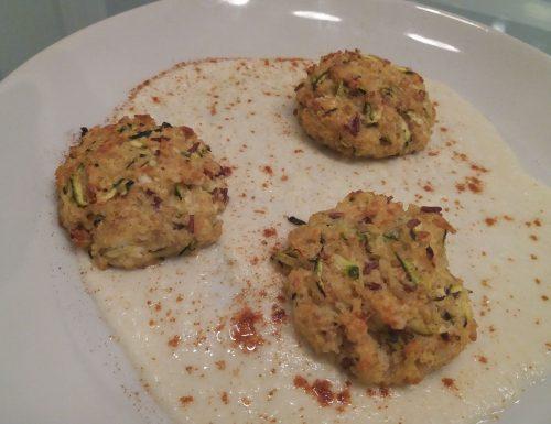 Polpettine con bulgur, zucchine e feta