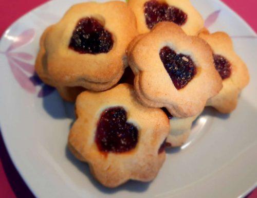 Biscotti alla marmellata (frolla senza glutine)